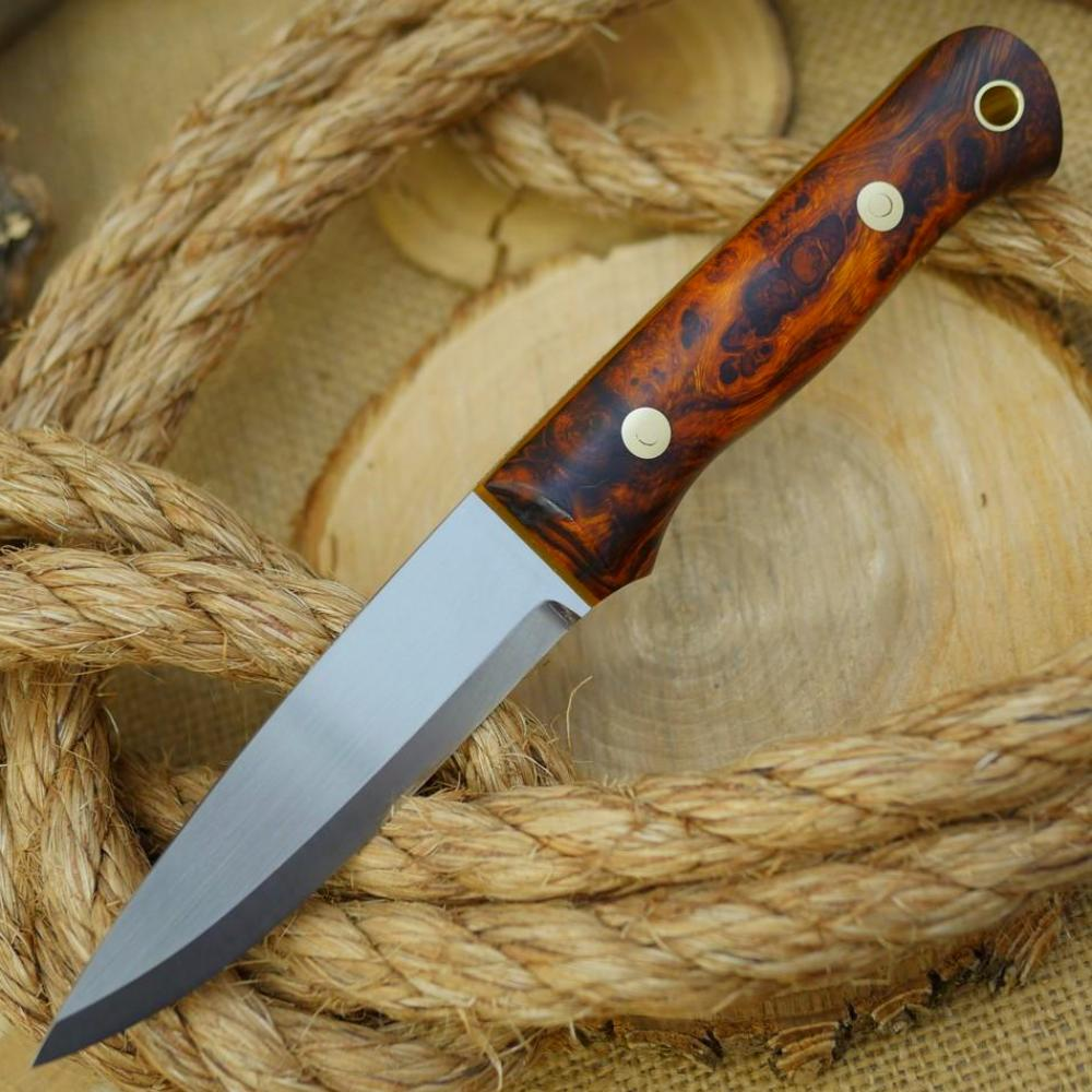 Classic: Ironwood Burl & Orange Translucent Liners - Adventure Sworn Bushcraft Co.