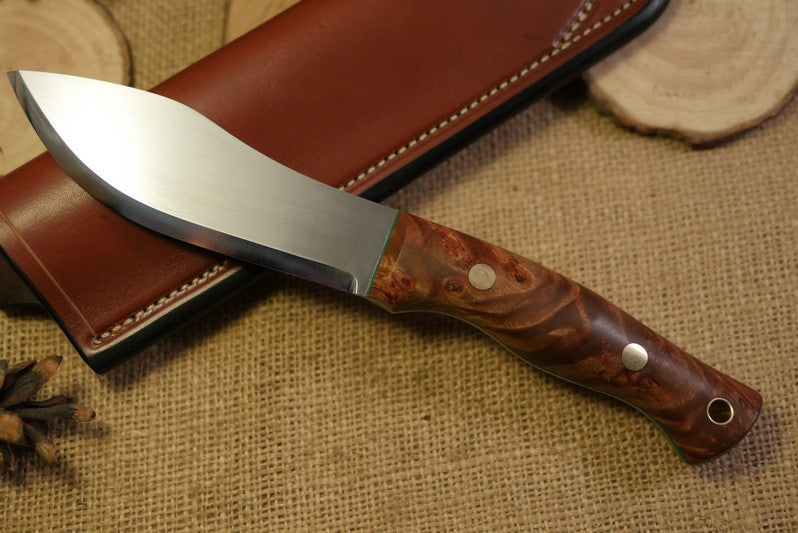Guide Bushcraft Knife, Maple Burl Handle Scales