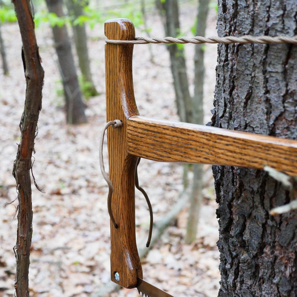 Custom Bucksaw: Dark Stained Oak - Adventure Sworn Bushcraft Co.