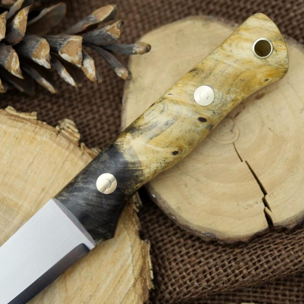 In Stock Voyageur: Buckeye Burl & Red - Adventure Sworn Bushcraft Co.