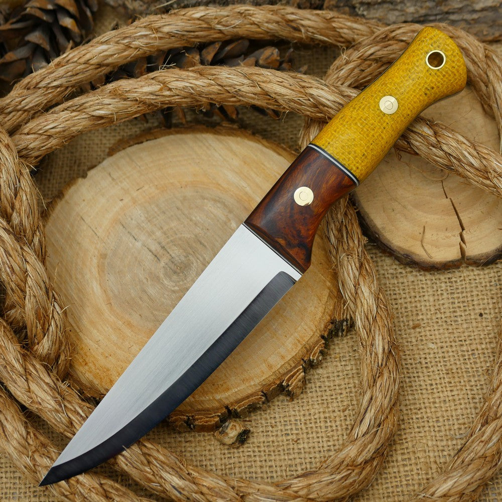 2ND: Tradesman: Ironwood & Yellow Burlap - Adventure Sworn Bushcraft Co.