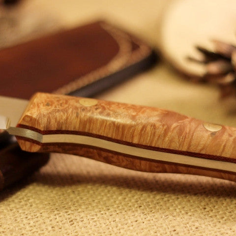 Classic Bushcraft Knife, Maple Burl