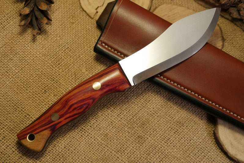Guide Bushcraft Knife, Tulipwood Handle Scales