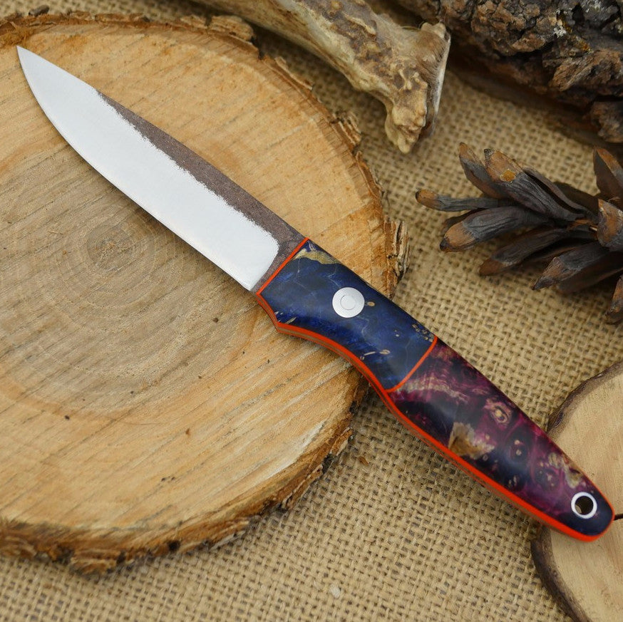 Hiker: Purple Box Elder, Blue Box Elder, & Hunter Orange G10 - Adventure Sworn Bushcraft Co.
