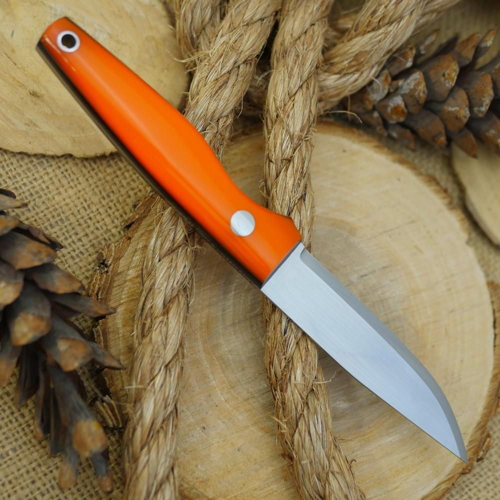 Hiker: Orange Acrylic & Black Canvas w/ Matching Firesteel - Adventure Sworn Bushcraft Co.