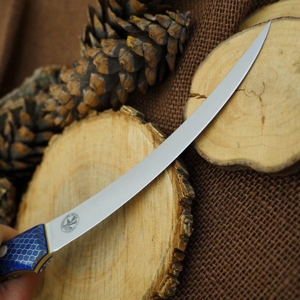 CPM 154 Fisherman: Blue C-tek & Double Liners - Adventure Sworn Bushcraft Co.