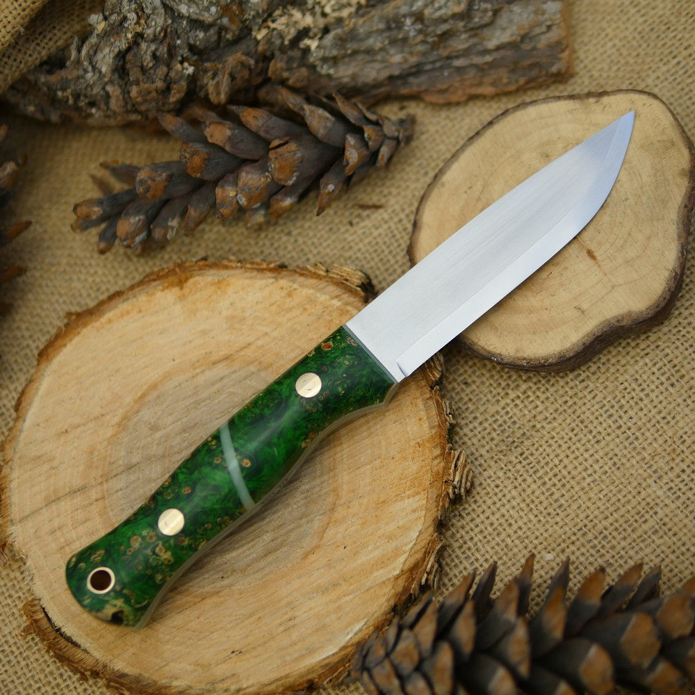 Explorer: Green Box Elder Burl & Green Moonglow - Adventure Sworn Bushcraft Co.