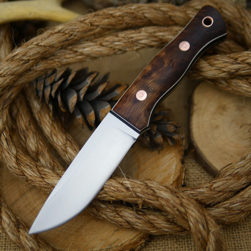 Huntsman: Redwood Burl, Black Canvas & Thin White - Adventure Sworn Bushcraft Co.