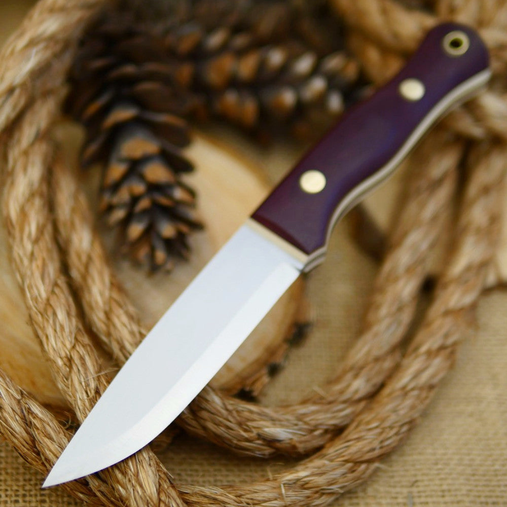 Explorer: Maroon Canvas Micarta and Ivory Paper - Adventure Sworn Bushcraft Co.