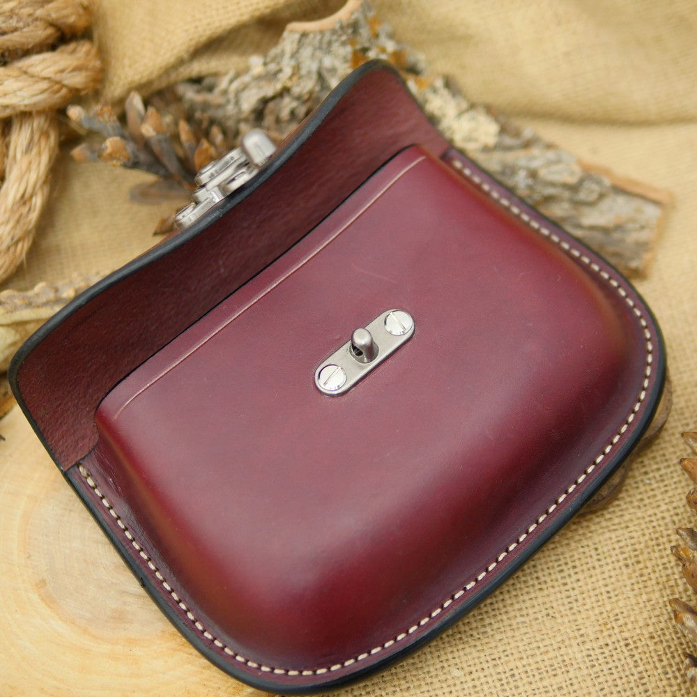 Traveler's Pouch: Burgundy & Stainless