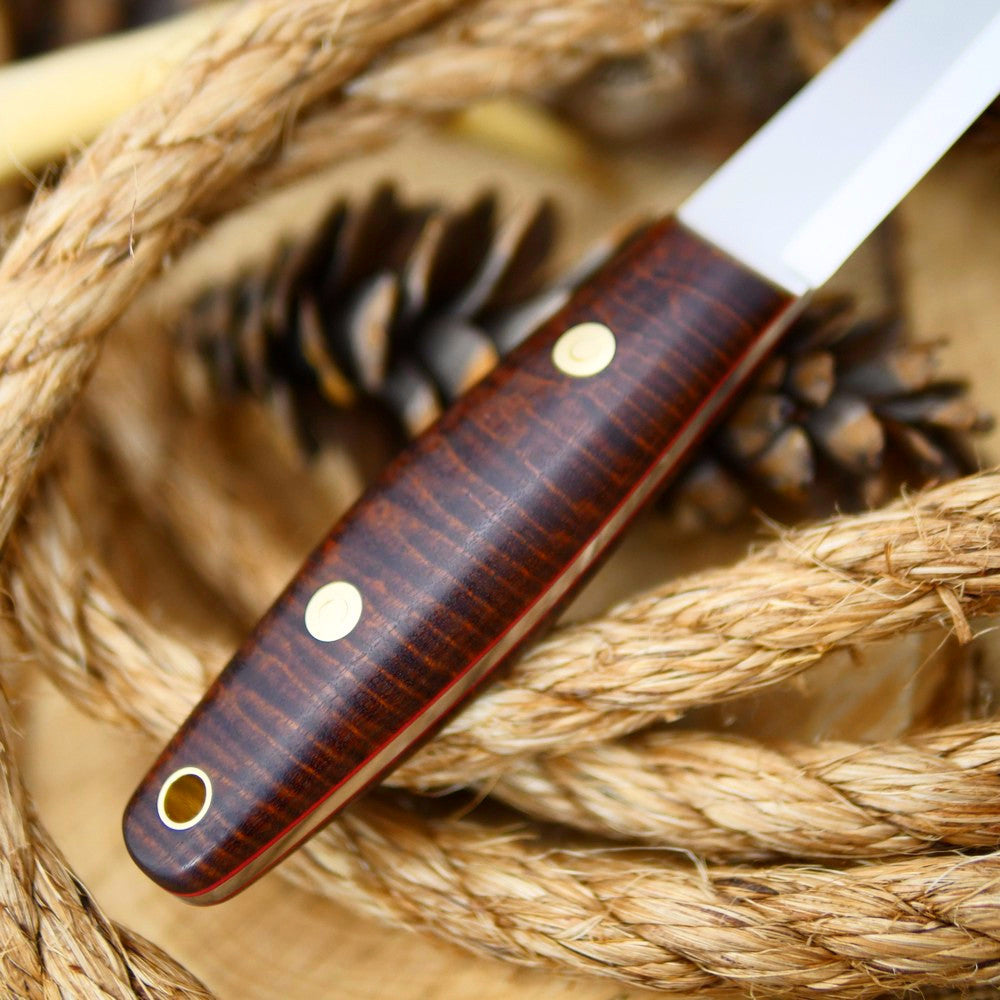 Woodsman: Stabilized Koa & Red Liners
