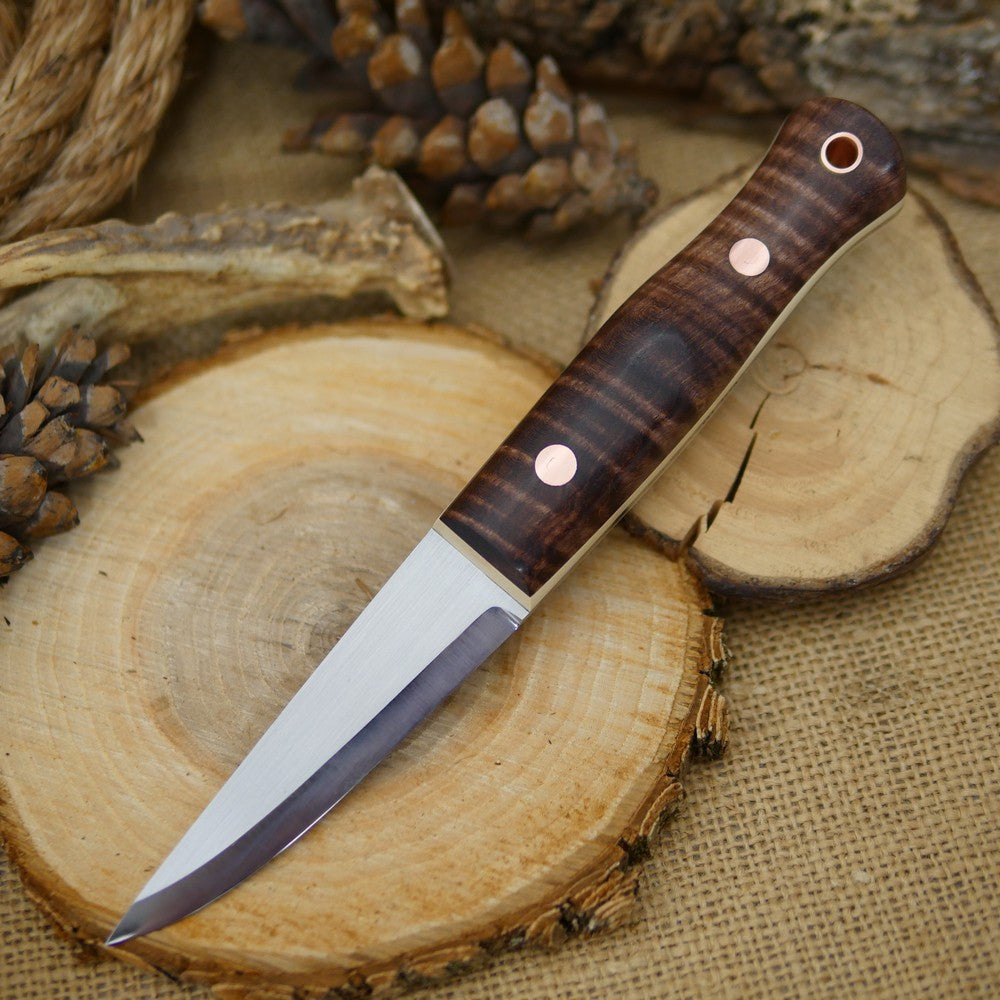 Woodcrafter: Brown Curly Maple & Ivory Paper - Adventure Sworn Bushcraft Co.