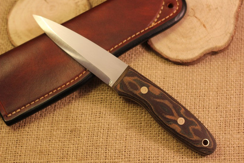 Wayfarer Bushcraft Knife, Textured Python Canvas Micarta Handle Scales