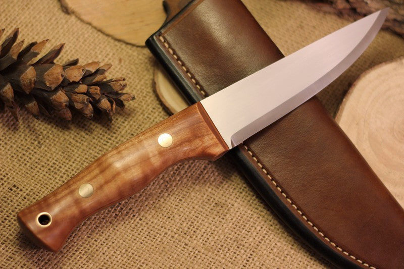 Tradesman Bushcraft Knife, Curly Maple