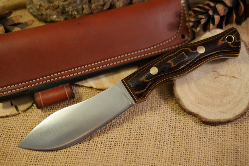 Guide Bushcraft Knife, Python Canvas Micarta Handle Scales
