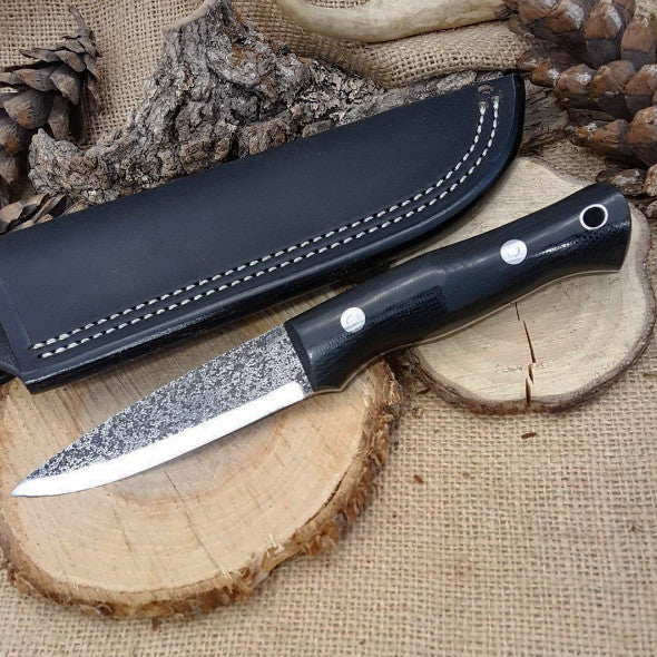 Classic 007: Black Canvas Micarta - Adventure Sworn Bushcraft Co.