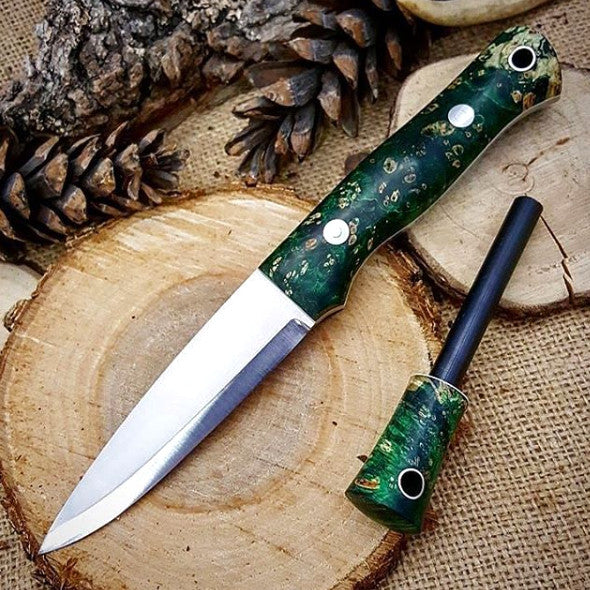 Classic 013: Stabilized Green Box Elder Burl - Adventure Sworn Bushcraft Co.
