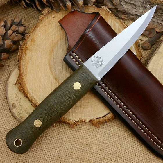 Woodcrafter, Textured Green Canvas Micarta