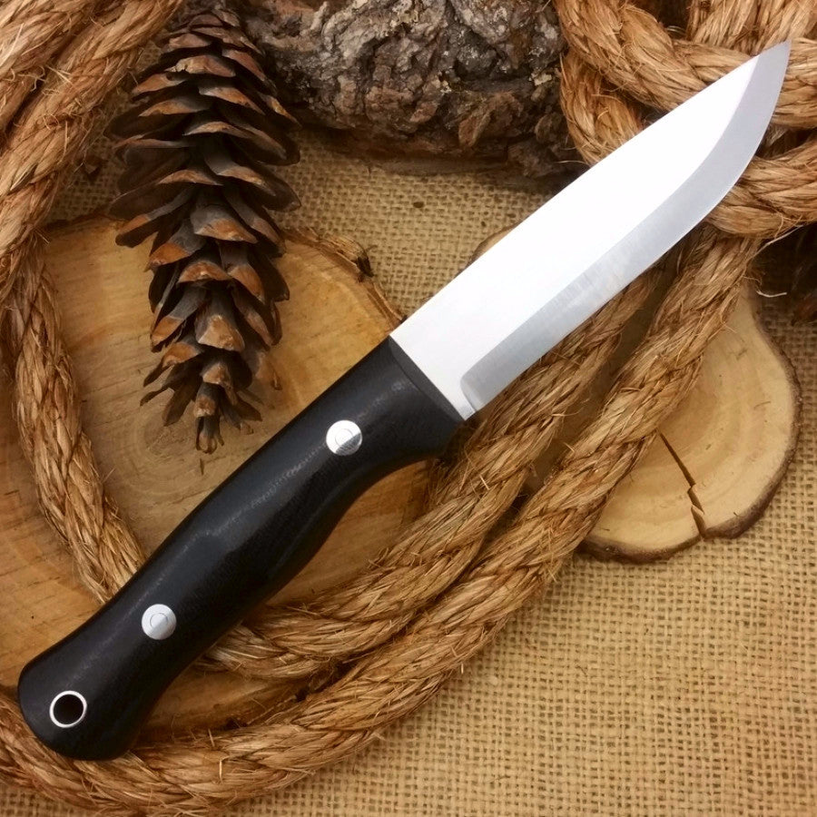 Explorer: 5/32 CPM 3V, Black Canvas & Thin Red - Adventure Sworn Bushcraft Co.