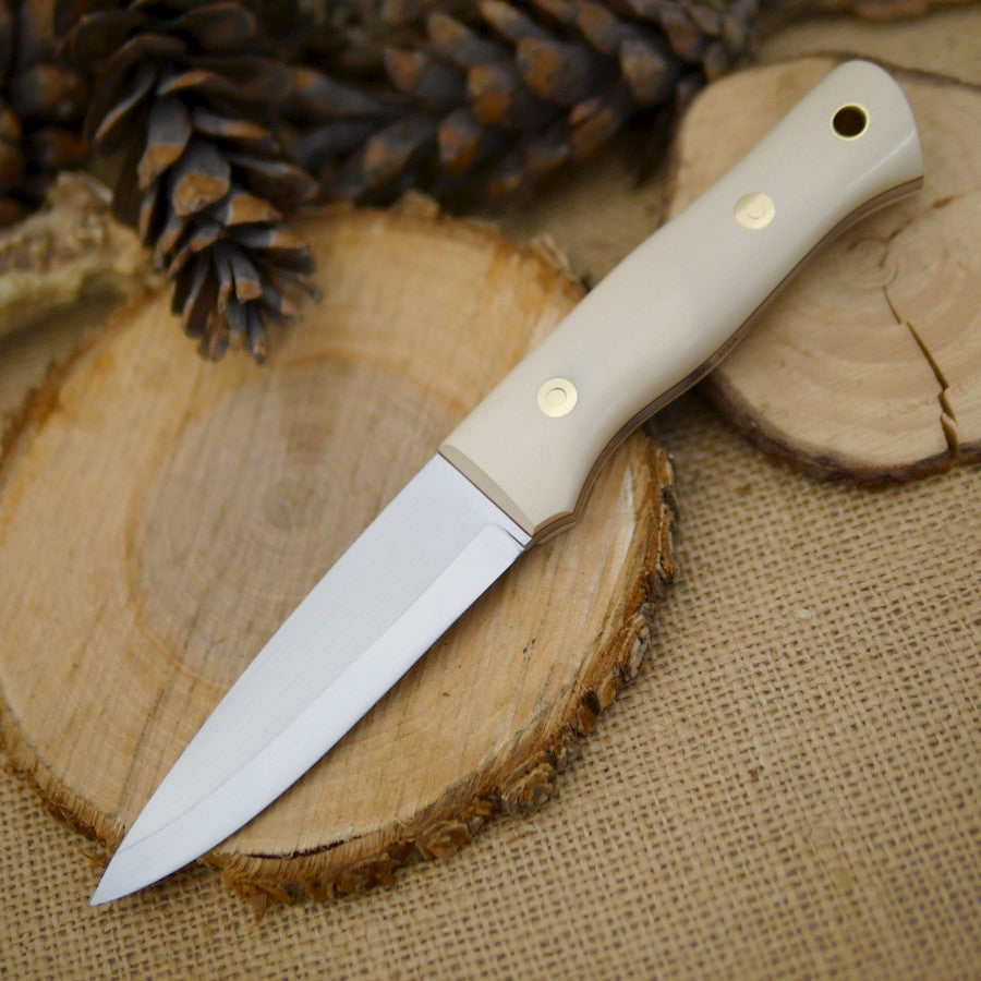 Classic: Ivory Paper Micarta, Slim - Adventure Sworn Bushcraft Co.