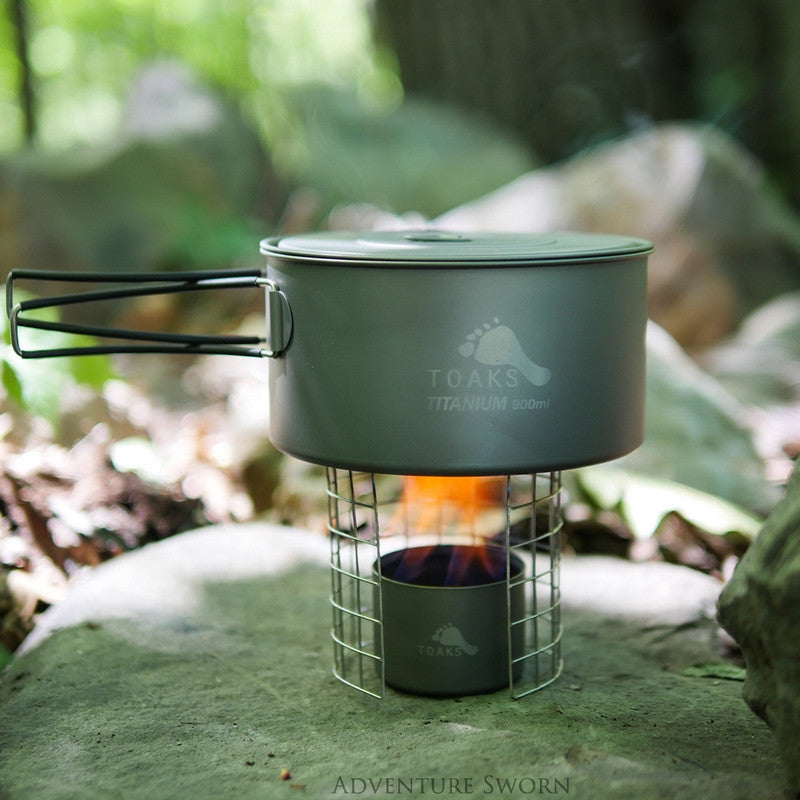 Toaks 900 ml with the siphon alcohol stove