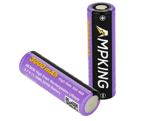 AMP King - 20700 3000mAh 30A Batteries