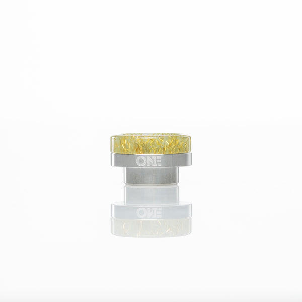 District F5VE One Tip Stainless Steel Base Jade Glitter