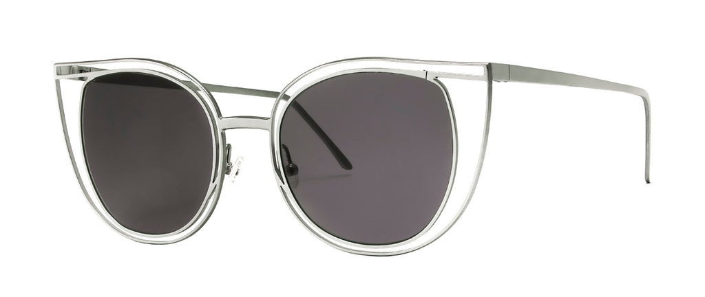 Thierry Lasry Eventually 500 / Flat Solid Grey 53-21-144 Sunglasses