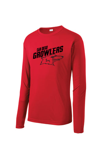 Growler Red Performance Long Sleeve