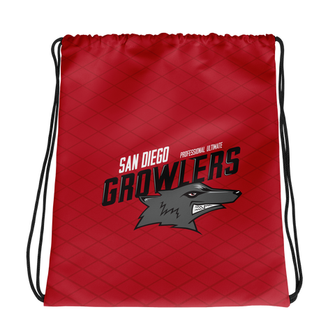 Growler Drawstring Bag