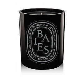 Known the world over as one of the finest handmade candles, Diptyque was started in 1961 by three friends studying at the Beaux Arts School in Paris.   Dark and mysterious. Luxurious and romantic. Fruity meets floral in this famously popular Diptyque candle. Black currant leaves blend with Bulgarian rose essence. The mix of essential oils in the black wax gives this candle a heavier and more powerful scent. A Tom Ford favorite.    10.5 OZ.