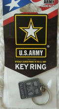Army Key Ring. Official Licinsed Product of U.S. Army. Cast Zinc Alloy,, Pewter