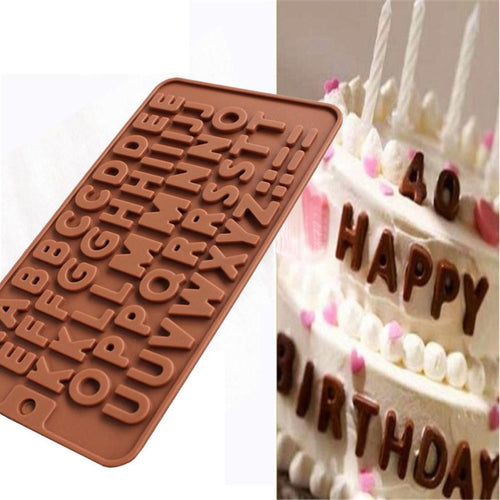 Candy Letter Maker.  Silicone Letter Molds. Great for Birthday Cakes,  Crafts, Cookies,  Candy, and making Ice Cubes.