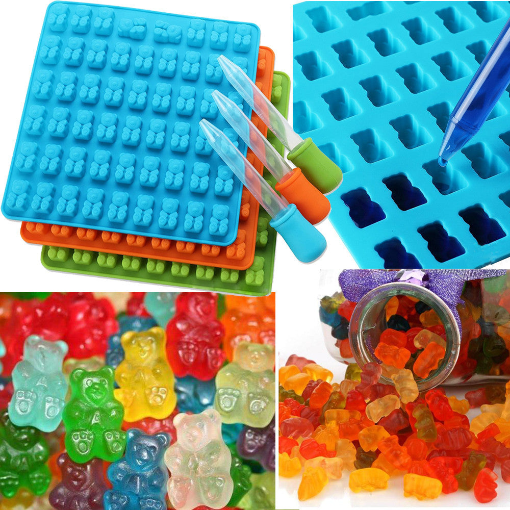 Gummy Bear Mold Candy Maker. Silicone Candy Maker Makes Gummy Bears.