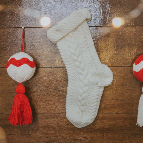 Cabled Christmas Stocking