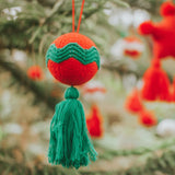 Christmas Knitted Balls with Tassel