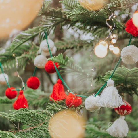 Christmas Pompom and Tassel Garlands