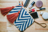 Handknit Cotton Clutch