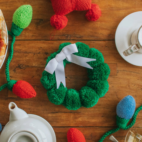 Mini Pompom Wreath