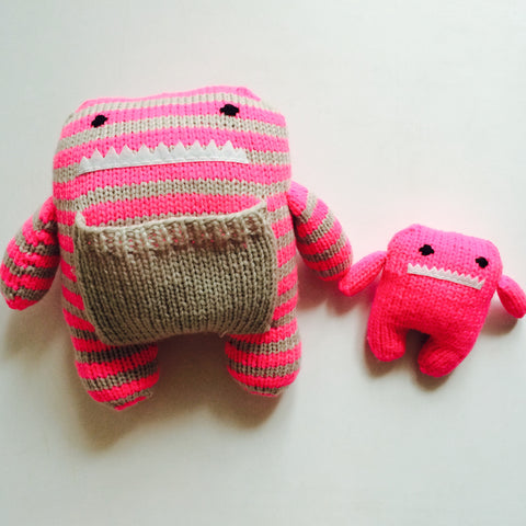 Lola and Lily Hand Knit Monster