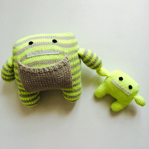Lola and Luc Hand Knit Monster