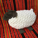 Sheep Hand Knit Bobble Pillow