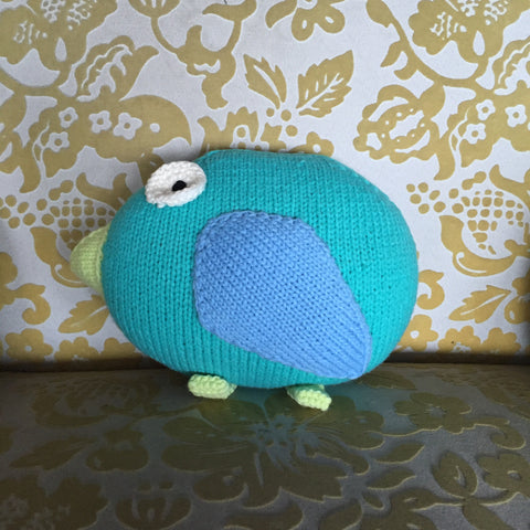 Bird Hand Knit Pillow