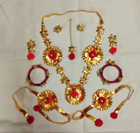 Supushp Gota Patti full bridal Sets - golden gota