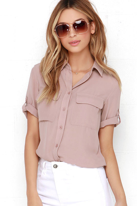 Clemonte Button up mauve top