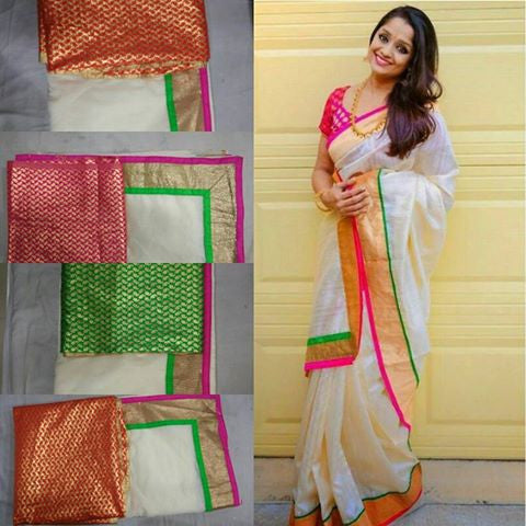 South Indian designer saree with blouse