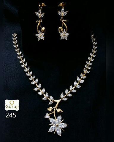 Clemonte Viraasat Jewels - floral diamond set