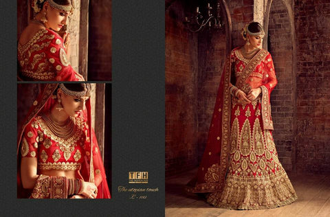 Bridal red Lehenga - the golden utopian touch