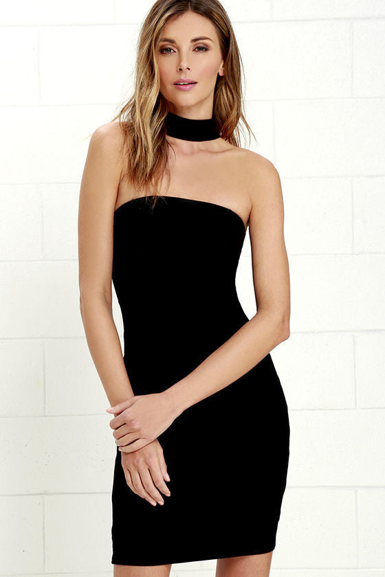 Clemonte choker little black dress
