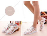 Clemonte Cream Floral canvas shoes loafers sneakers